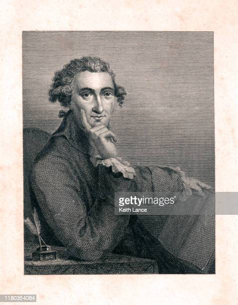 portrait of thomas paine - declaration of independence stock illustrations
