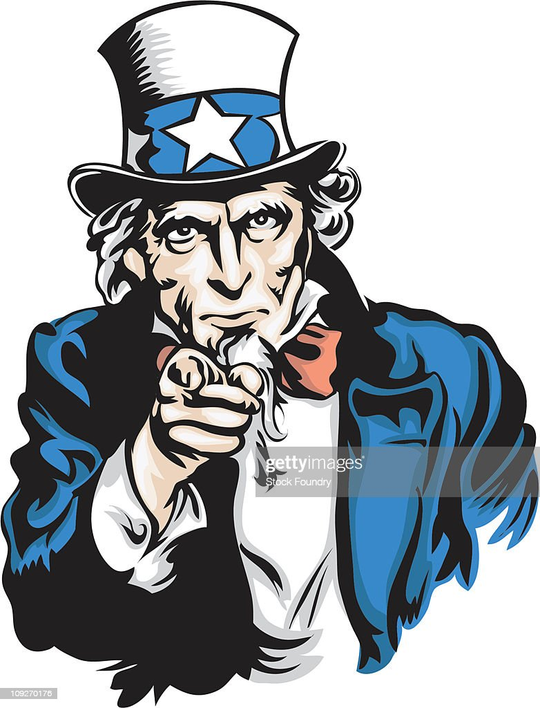 portrait of uncle sam stock illustration getty images rh gettyimages com We Need You Craft People uncle sam we need you clip art