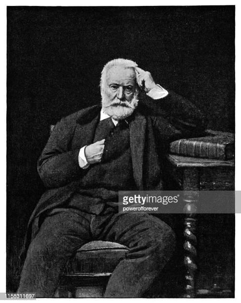 レオン・ボナトによるヴィクター・ヒューゴの肖像 - 19世紀 - 膝から上の構図点のイラスト素材/クリップアート素材/マンガ素材/アイコン素材