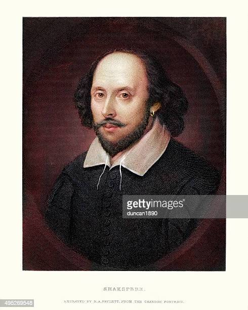 シェイクスピアのポートレート - ヨーロッパ文化点のイラスト素材/クリップアート素材/マンガ素材/アイコン素材
