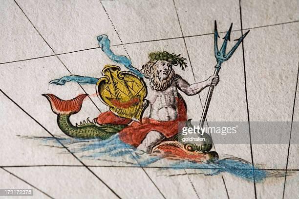 poseidon neptune - neptune roman god stock illustrations