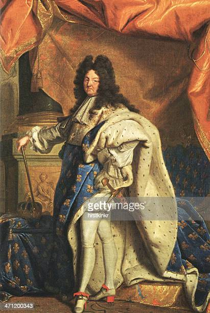 posing louis xiv, sun king, xxl - 18th century stock illustrations