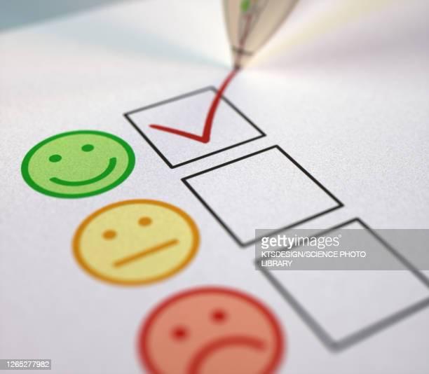 illustrazioni stock, clip art, cartoni animati e icone di tendenza di positive feedback, conceptual illustration - soddisfazione