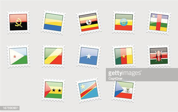 Briefmarke Flags: Zentralafrika