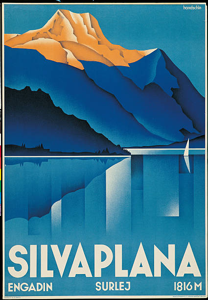 Poster for Silvaplana, by Johannes Handschin, 1934, 20th Century, print.