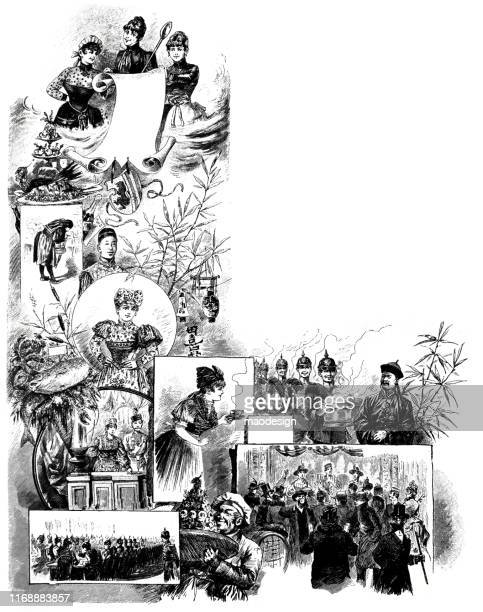 poster of the oriental kitchen for soldiers - 1887 stock illustrations, clip art, cartoons, & icons