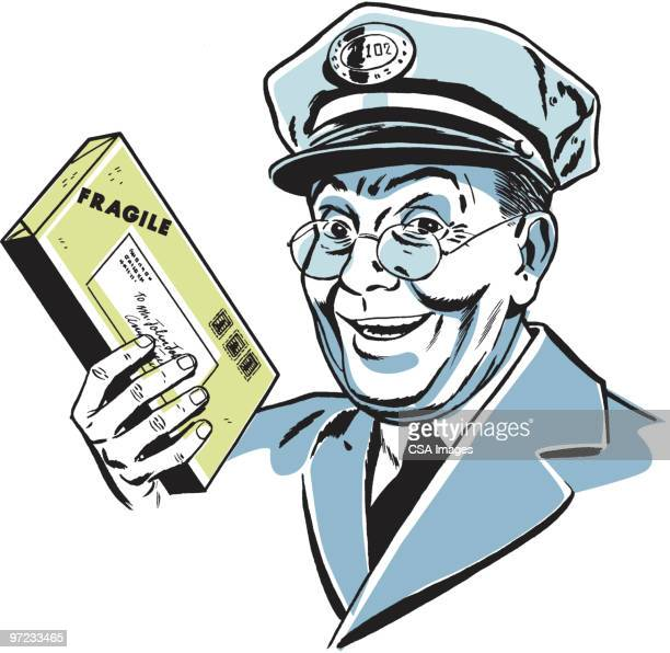 postman - courier stock illustrations