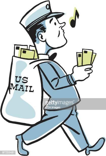 postman - capital letter stock illustrations