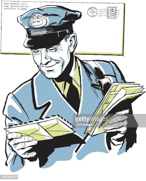 postman - writing stock illustrations