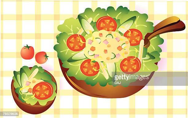 Potato salad, close-up, illustration
