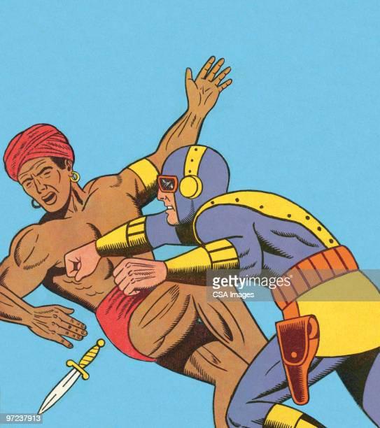 pow! - heroes stock illustrations