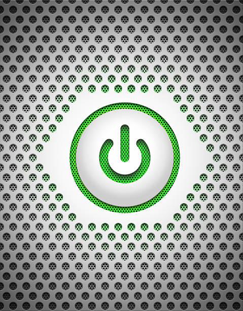 Power button on high tech mesh background