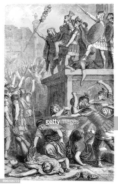 Praetorian Guard Proclaiming a Roman Emperor