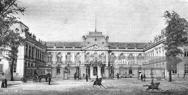prefecture building in versailles - versailles stock illustrations