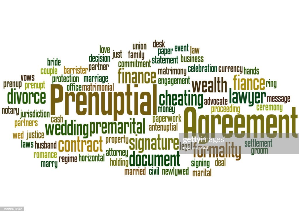 Prenuptial Agreement Word Cloud Concept 9 Stock Illustration Getty