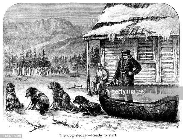 Preparing to start a dog-sledge in Victorian Canada