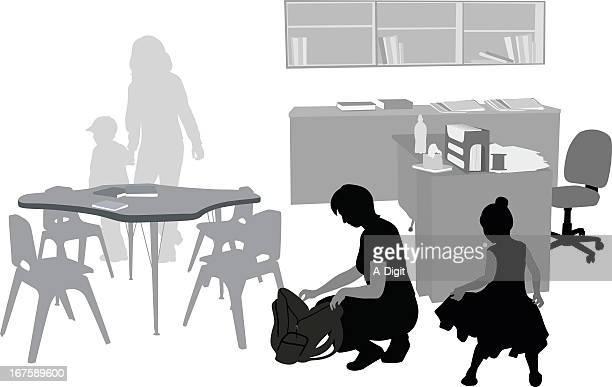 PreSchool Vector Silhouette