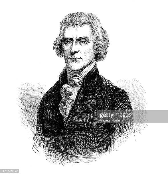 president jefferson - declaration of independence stock illustrations