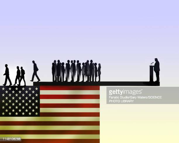 us president losing support, conceptual illustration - national flag stock illustrations