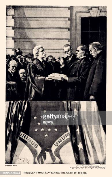 president mckinley,25th president of the united states (xxxl) - presidential election stock illustrations