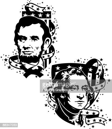 Presidents Day Abraham Lincoln And George Washington Layered Also ...