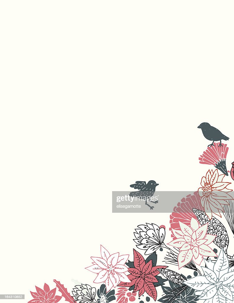 Pretty Flower Border With Birds Vector Art Getty Images