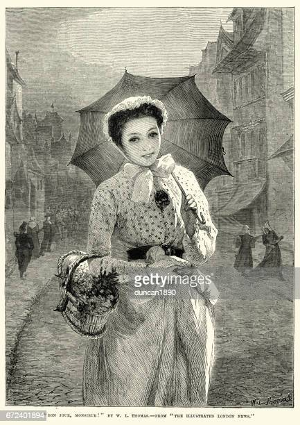 Pretty young victorian woman