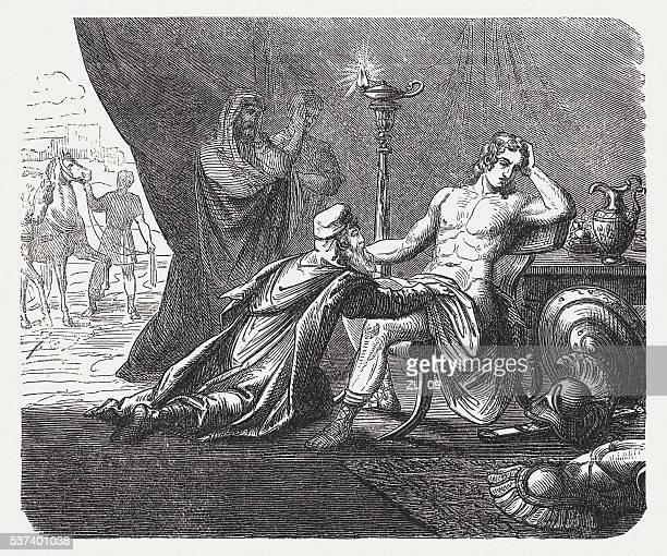 Príamo pergunta Aquiles para o corpo do seu filho Héctor