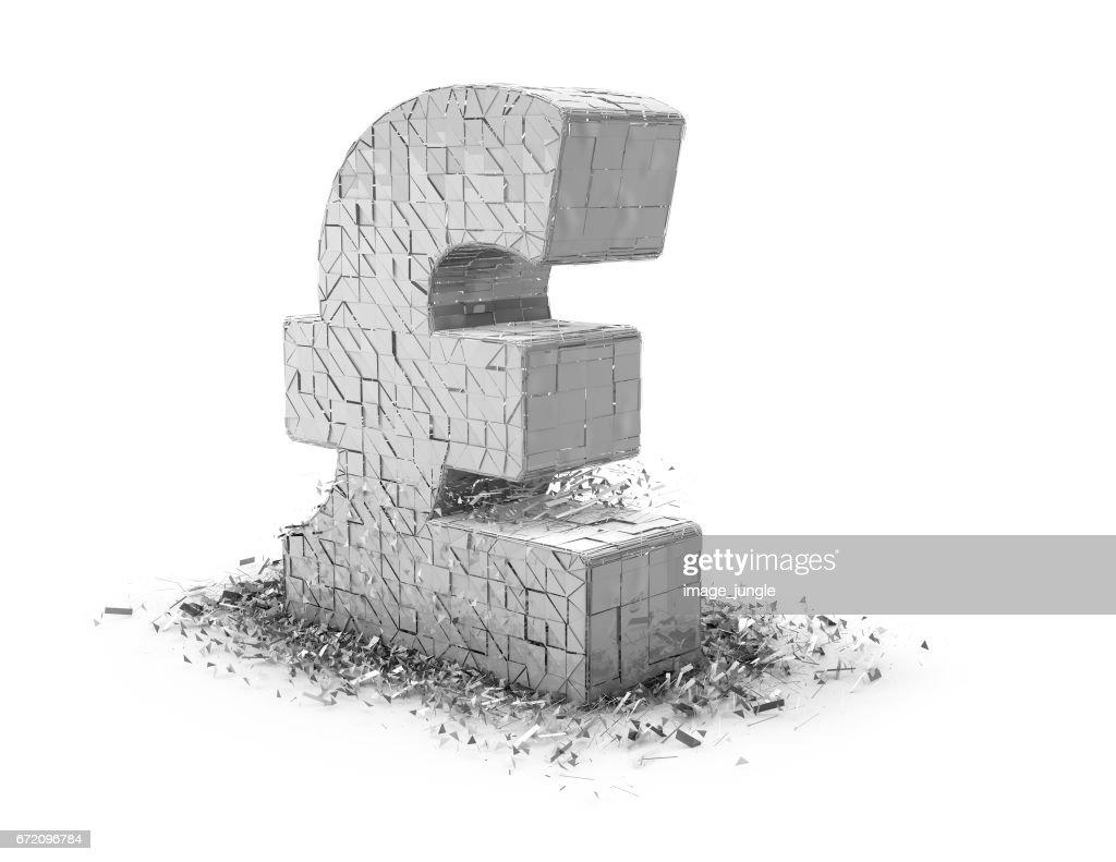 Price Of British Pound Falling Down On Stock Market Ilration
