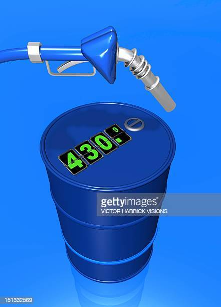 price of oil, conceptual artwork - gas prices stock illustrations, clip art, cartoons, & icons