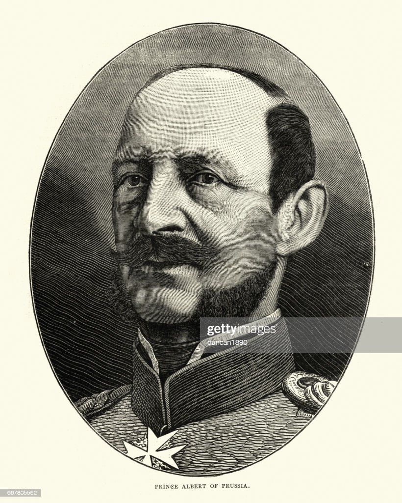 Prince Albert of Prussia : stock illustration
