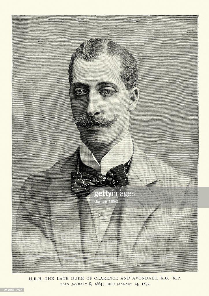 Prince Albert Victor, Duke of Clarence and Avondale : stock illustration