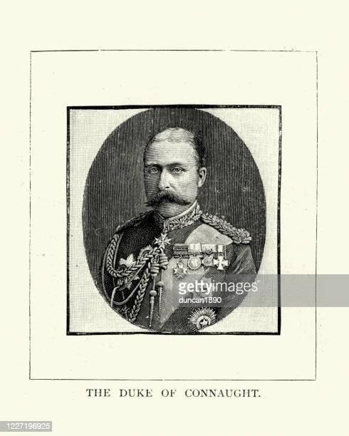 stockillustraties, clipart, cartoons en iconen met prins arthur, hertog van connaught en strathearn - duke