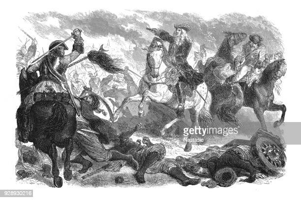 prince eugene of savoy in the battle of belgrade - auvergne rhône alpes stock illustrations, clip art, cartoons, & icons