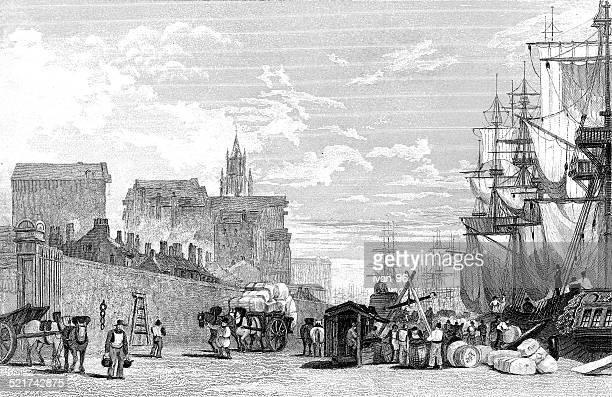 ilustraciones, imágenes clip art, dibujos animados e iconos de stock de prince's dock, liverpool - torre petrolera