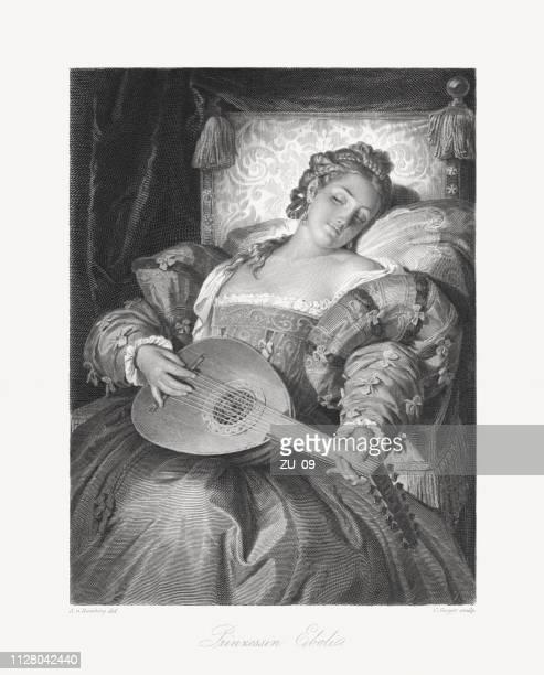 ilustraciones, imágenes clip art, dibujos animados e iconos de stock de princesa de éboli (1540-1592), aristócrata español, personaje de schiller y verdi - producto artístico