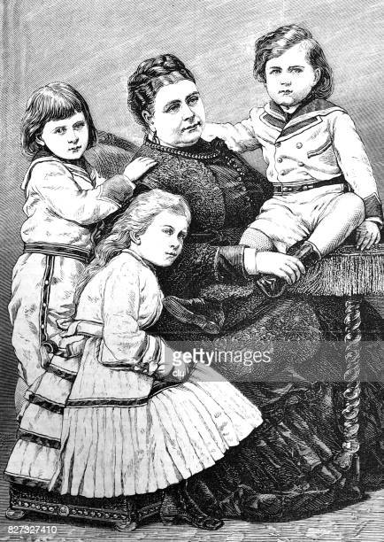 Princess Mary of teck and her children