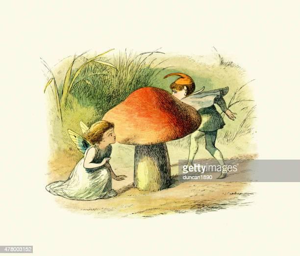 princess nobody - fairy hide and seek - fairy stock illustrations