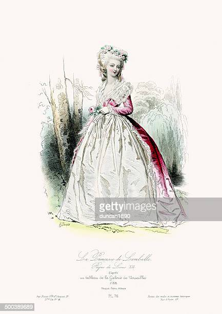 princess de lamballe - princess stock illustrations
