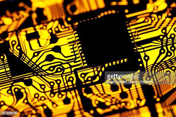 printed circuit board, artwork - intricacy stock illustrations