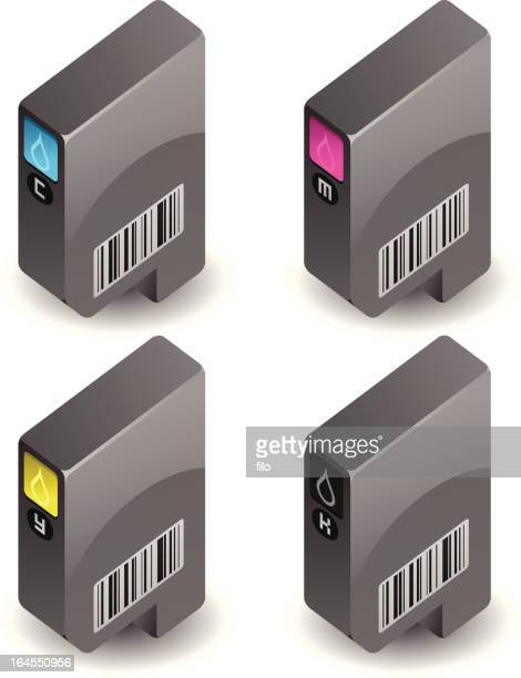 printer cartridges - conversion sport stock illustrations