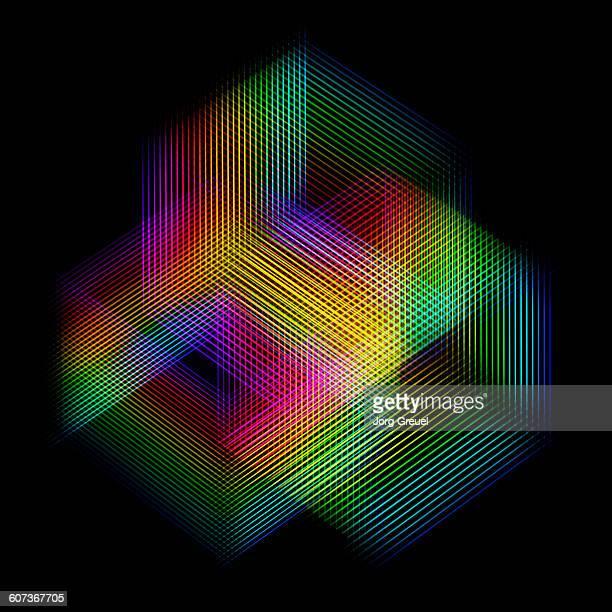 Prismatic colours pattern