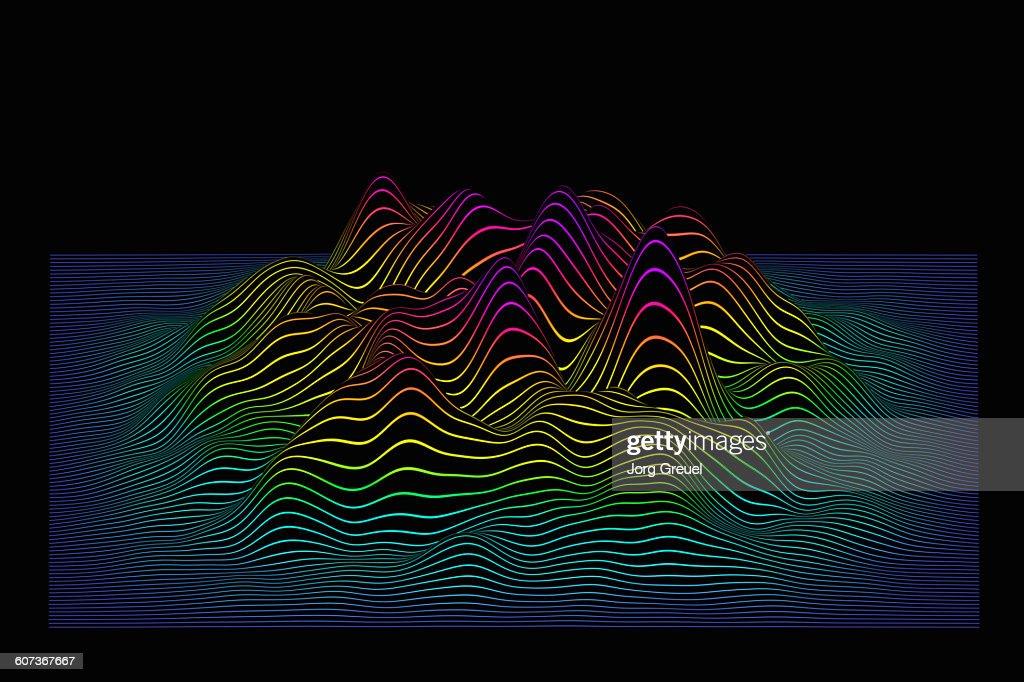 Prismatic line landscape : stock illustration