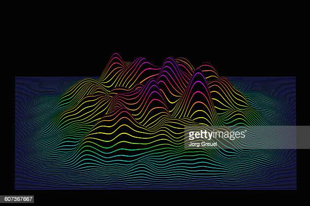 prismatic line landscape - copy space stock illustrations