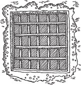 Prison Window Bars Drawing