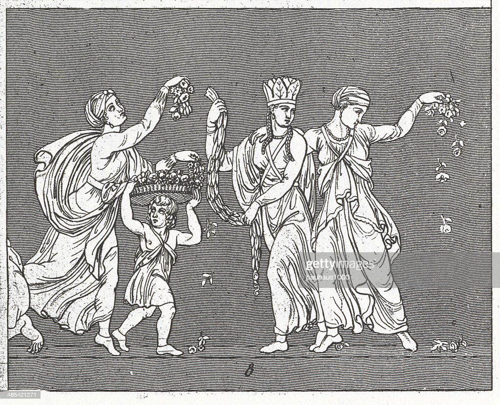 Procession of Alexander Relief : stock illustration