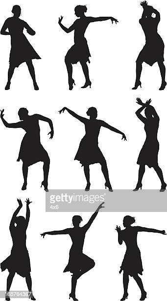 professional dancer performing dance - salsa dancing stock illustrations, clip art, cartoons, & icons
