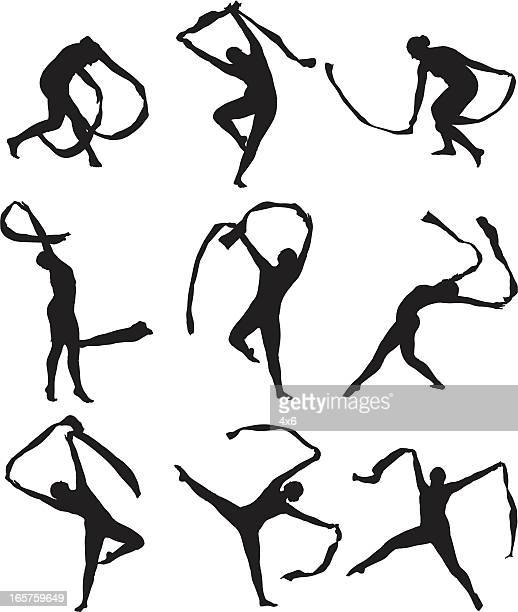 professional dancer solo dance performance - contortionist stock illustrations