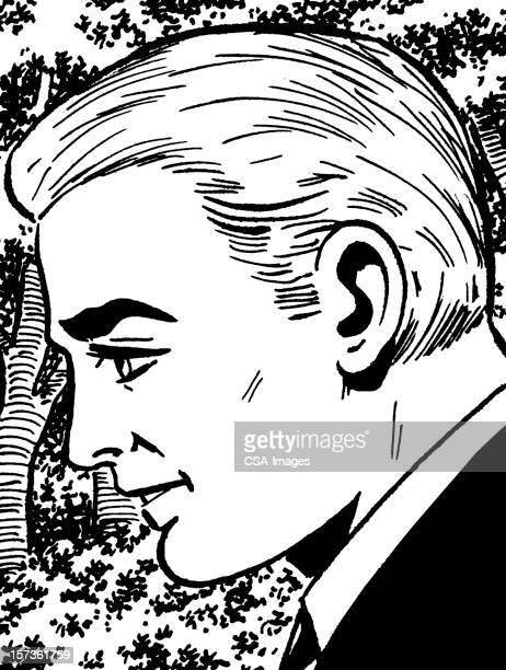 Profile of Blonde Man