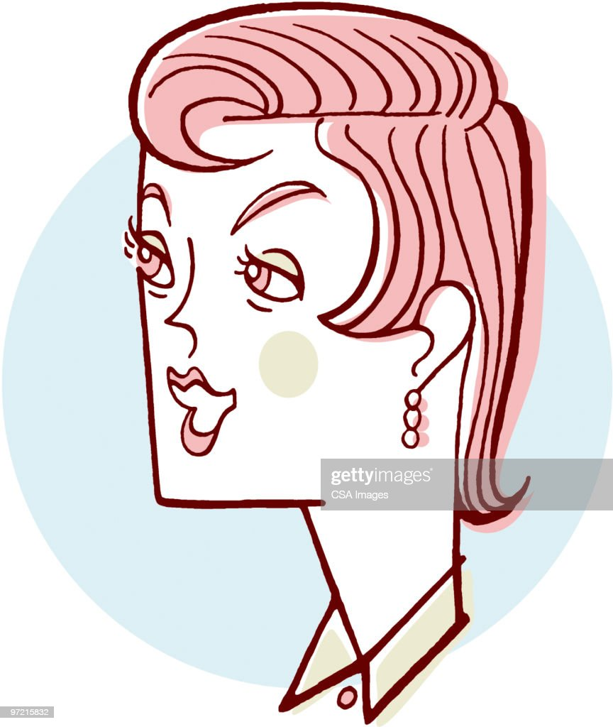 Profile of Woman : Stock Illustration